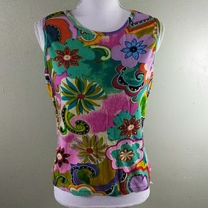 Sleeveless Embellished Top by Take Two L NWOT